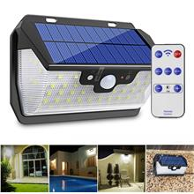 55 LED Solar Motion Sensor Light 3 Modes Outdoor Security Wall Lamp US..