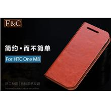 Htc One M8 PU Leather Flip Case Cover + Free Screen Protector