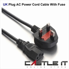 VC CABLE DESKTOP 3PIN POWER CORD 5A with FUSE 1.8Meter (CA057)