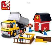 SLUBAN TOWN-CONSTRUCTION DUMPER TRUCK LEGO BRICK (B0552) toy