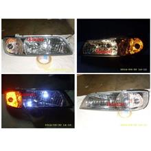 Nissan Cefiro A32 '98 Crystal Chrome Head Lamp [All Bulb Incuded]