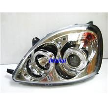 TOYOTA YARIS 98-02 Projector Head Lamp with Ring Chrome Housing