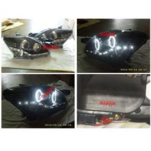 EAGLE EYES Toyota Vios '07 CCFL Ring Projector Head Lamp DRL R8 HL-123