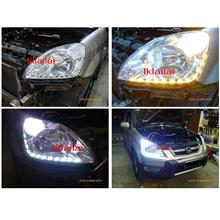 Honda CRV '02 LED DRL R8 Crystal Head Lamp
