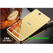 Sony Xperia C3 Mirror Metal Bumper Frame Case Cover Casing + Gift