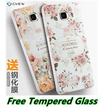 Samsung Galaxy A5 A7 A9 2016 3D Back Case Cover Casing +Tempered Glass
