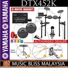 Yamaha DTX452K Electronic Drum Set with Stool & Drumsticks (DTX-452K)