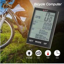 Bike Computer Bicycle Speedometer Odometer Temperature Backlight