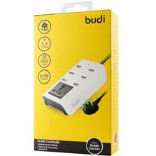 ORIGINAL budi M8J302U 6x USB Home Charger with Socket 1.8m Extension