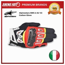 ALPINESTARS SMX-2 AIR CARBON V2 GLOVES (YELLOW/RED/BLACK/WHITE)