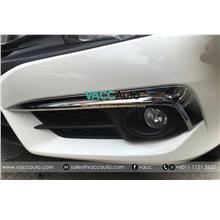 Honda Civic (10th Gen) Fog Lamp Chrome Lining