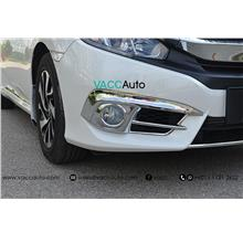 Honda Civic (10th Gen) Fog Lamp Full Chrome Cover