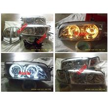 EAGLE EYES MITSUBISHI LANCER '95-97 LED Crystal Head Lamp [HL-026]