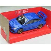 Welly 1/34-1/39 Diecast Car Subaru Impreza WRX STI 2015 (Blue)