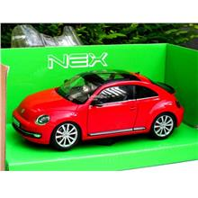 Welly 1/24 Diecast Car Volkswagen Vw the Beetle New Beetle 2012 (Red)