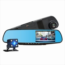 Car DVR Dual Lens Full HD 1080P Video Recorder Rearview Mirror Rear view Camer