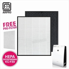 AIRPRO for Sharp KC-F30 Replacement Air Purifier HEPA  & Deodorizing Fi