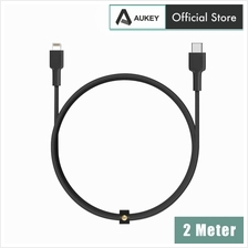 Aukey CB-CL2 MFI Braided Nylon USB C To Lightning Cable - 2 Meter