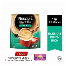 NESCAFE Blend and Brew Rich 19g, Buy 1 Free 1 Munchy's LEXUS 5packs)