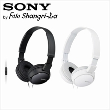 Sony MDR-ZX110AP headphones In-line remote and mic for hands-free calls