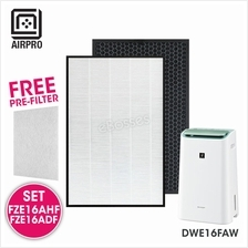 AIRPRO for Sharp FZ-E16AHF FZ-E16ADF Replacement Air Purifier HEPA  & D