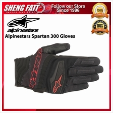 ALPINESTARS SPARTAN 300 GLOVES (BLACK/RED)