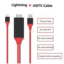 2m Lightning to HDMI AV Cable Set & HDTV Adapter for iPhone / iPad