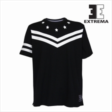 EXTREMA BIG SIZE RN SS Tee With Printing EX1042 (Black)