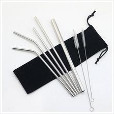 Stainless Steel Drinking Straw Reusable Drinking Washable Set