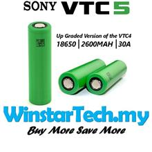 Sony US18650 18650 VTC5 2600mAh 30Amp Rechargeable Battery HIGH DRAIN