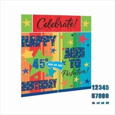 Add An Age Celebrate! Happy Birthday 6ft Scene Setter Photo Decoration