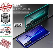 Huawei Honor 20 / Honor 20 Pro Metal Bumper + Tempered Glass Back Case