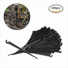 100pcs Fixed Stem Drip Irrigation Value Pack of Support Stakes for Flower Beds