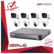 HIKVISION CCTV 8 CHANNEL FULL HD 5MP H 265 DVR AND 8 5MP INDOOR & OUTD