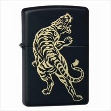 Black Matte Tiger 29924 Zippo Lighter