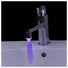 Mini Pure Copper Glow LED Light Water Stream Faucet Tap 7 Color