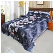 4pcs 3D Printed Bedding Set Bedclothes Black Tiger Duvet Cover Bed Sheet 2 Pil