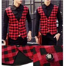SALE!!! D.HOMME KOREAN STYLISH VEST COMBINED LONG SLEEVE SHIRT