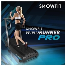 ZERO Electricity & Maintenance - SNOWFIT WindRunner Manual Treadmill
