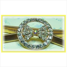 Fashion Gold-Plated Belt With Round & Ribbon-Like Shape Beads