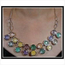Fashion Korean Round Shape With Mutiple Color Design Necklace