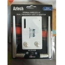 Aztech WL593USB 900Mbps Dual Band Wireless N USB 3.0 Adapter Antenna