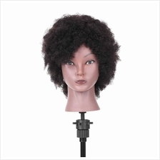 Afro Mannequin Head Hairdressing Training Head for Practice Styling Braiding A