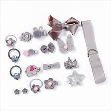 Baby Girls Hair Tie Ribbon Bow Clips Barrettes Hair Accessory Set