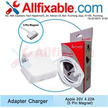 Apple Macbook Pro 15 A1398 A1417 20v 4.22a 5Pin Magnet Adapter Charger