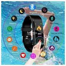 115 Plus Smart Watch Bracelets Tracker Colorful Screen Blood Pressure