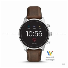 FOSSIL FTW4015 Men's Explorist HR Smartwatch Wear OS Leather Brown