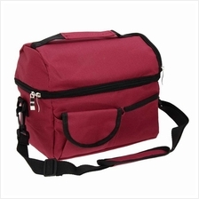 Large Capacity Insulated Square Lunch Bag Cooler Tote Carry Bags Travel Bento