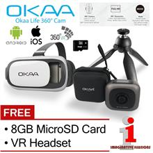 OKAA Life 360° Camera VR 4-Mode + FREE 8GB MicroSD Card + VR Headset: Best  Price in Malaysia