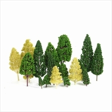 Pack of 27pcs Model Trees Scenery Layout Train Railway Diorama Landscape 3-16c